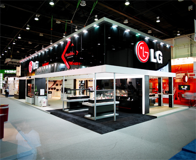 Exhibition Stand Circle : Ifp group stand design build up